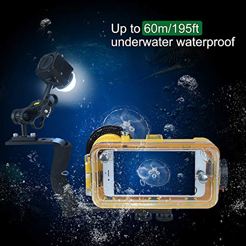 MEIKON Mini Waterproof led Light Scuba Diving Lights Fill-in Light for Waterproof housing Underwater Photographic Lighting System ... by MEIKON (Image #7)