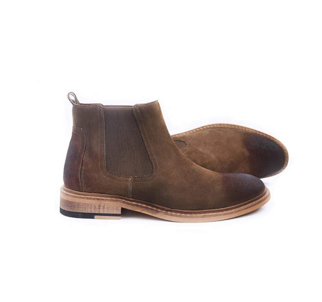 DANDANJIE Herren Stiefelspitzen Martin Stiefel High-Top-Britische Retro-Herbst Schuhe,braun,41EU
