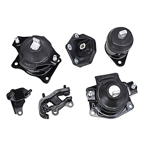 6pcs Engine Motor Mount Front, Rear, Right, Trans Transmission Upper, Front and Rear for 2003-2007 Honda Accord 3.0L, 2004-2006 Acura TL 3.2L, 2004-2008 Acura TL 3.5L - Front Engine Mount