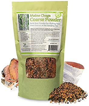 "Maine Chaga Coarse Powder, 14oz, Our Premium ""Black Gold"" Chaga Powder In Bulk, Highest Concentration Of Important Black Crust"