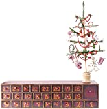 Vintage Snowman Wooden Advent Calendar With Drawers, Tree and Ornaments from Primitives by Kathy