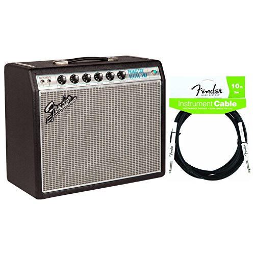 Fender 2272000000 '68 Custom Princeton Reverb 12 Watt Tube Combo Amplifier w/ 2-Button Footswitch and Instrument Cable