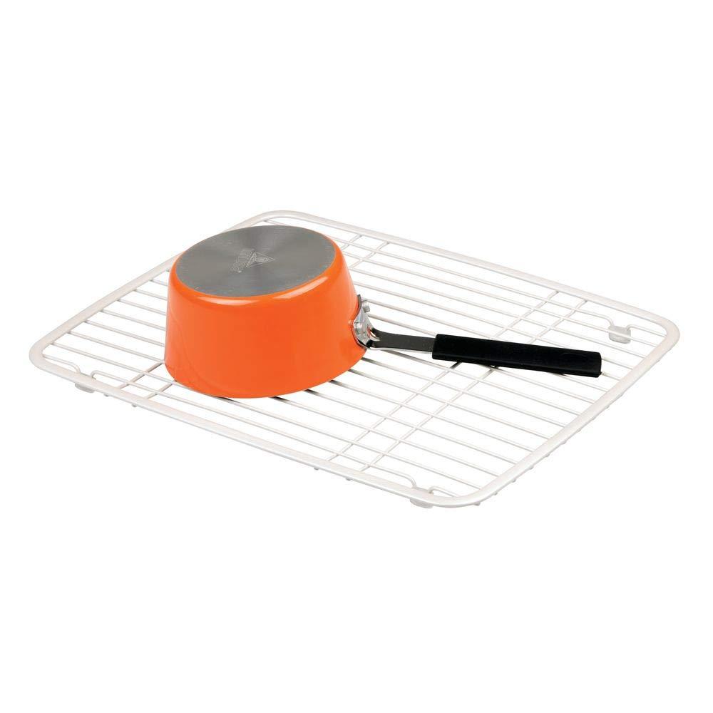 Metal Normal Blanco Perla /Fregadero de Cocina con Ventosa Soporte para esponjas//Depuradores//jab/ón InterDesign Axis/ Color Blanco Perla