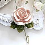 3 PCS Rose Flower Resin Hook Wall Decorative Creative Coat Hook