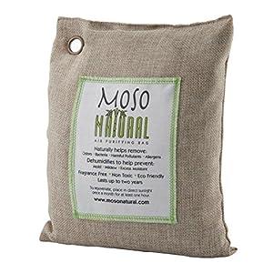 Moso Natural Air Purifying Bag 500-Grams. Natural Odor Eliminator. Fragrance Free, Chemical Free, Odor Absorber. Captures and Eliminates Odors. Natural Color
