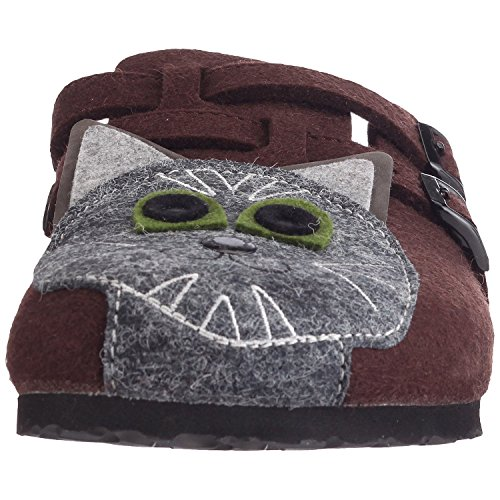 Birki Women's 529053 Clogs & Mules Brown - Felt Cat Tp3cKs