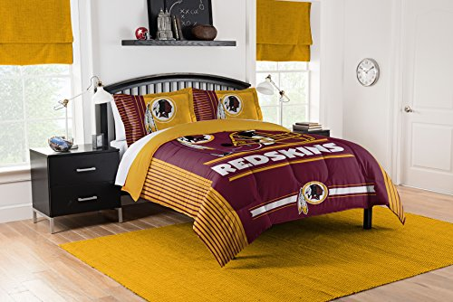 Officially Licensed NFL Washington Redskins Safety Full/Queen Comforter and 2 Sham (Washington Redskins Bed Set)