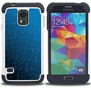 For Samsung Galaxy S5 I9600 G9009 G9008V - Blue Wallpaper Random Gradient Color /[Hybrid 3 en 1 Impacto resistente a prueba de golpes de protecci????n] de silicona y pl????stico Def/ - Super Marley Shop