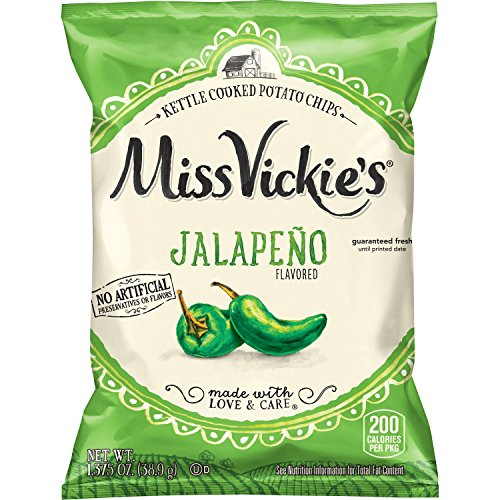 Miss Vickie's Flavored Potato Chips, Jalapeno, 28 Count