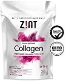 Zint Collagen Peptides Powder (32 oz): Paleo-Friendly, Keto-Certified, Premium Hydrolyzed Collagen Protein Supplement - Unflavored, Grass Fed, Non GMO