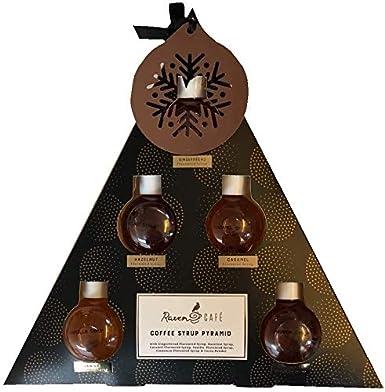 Juego de regalo de pirámide de jarabe de café con adornos de ...