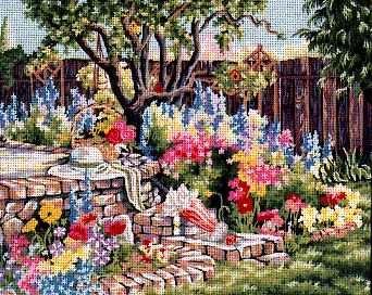 (Pegasus Originals My Garden Needlepoint Canvas)