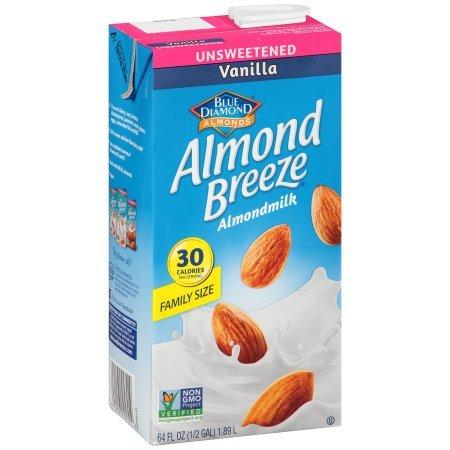 PACK OF 10 - Blue Diamond Almond Breeze Vanilla Almondmilk, 64 fl oz