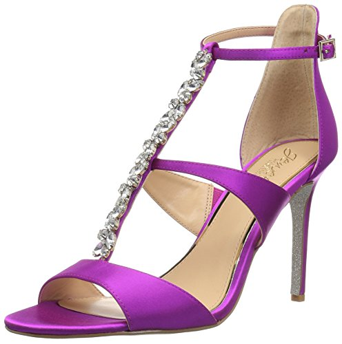 Badgley Mischka Jewel Women's MICA Heeled Sandal, Violet Satin, 7 M US
