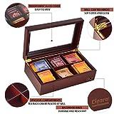 Volenx Tea Chest Box, Wooden Tea Box Storage