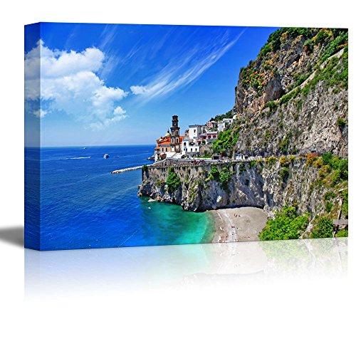 wall26 - Canvas Prints Wall Art - Scenic Amalfi Coast, Atrani Village | Modern Wall Decor/Home Decoration Stretched Gallery Canvas Wrap Giclee Print. Ready to Hang - 24