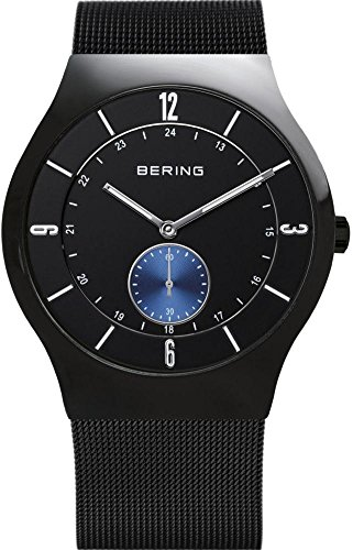BERING Time 11940-228 Men's Classic Collection Watch with Mesh Band and scratch resistant sapphire crystal. Designed in Denmark.