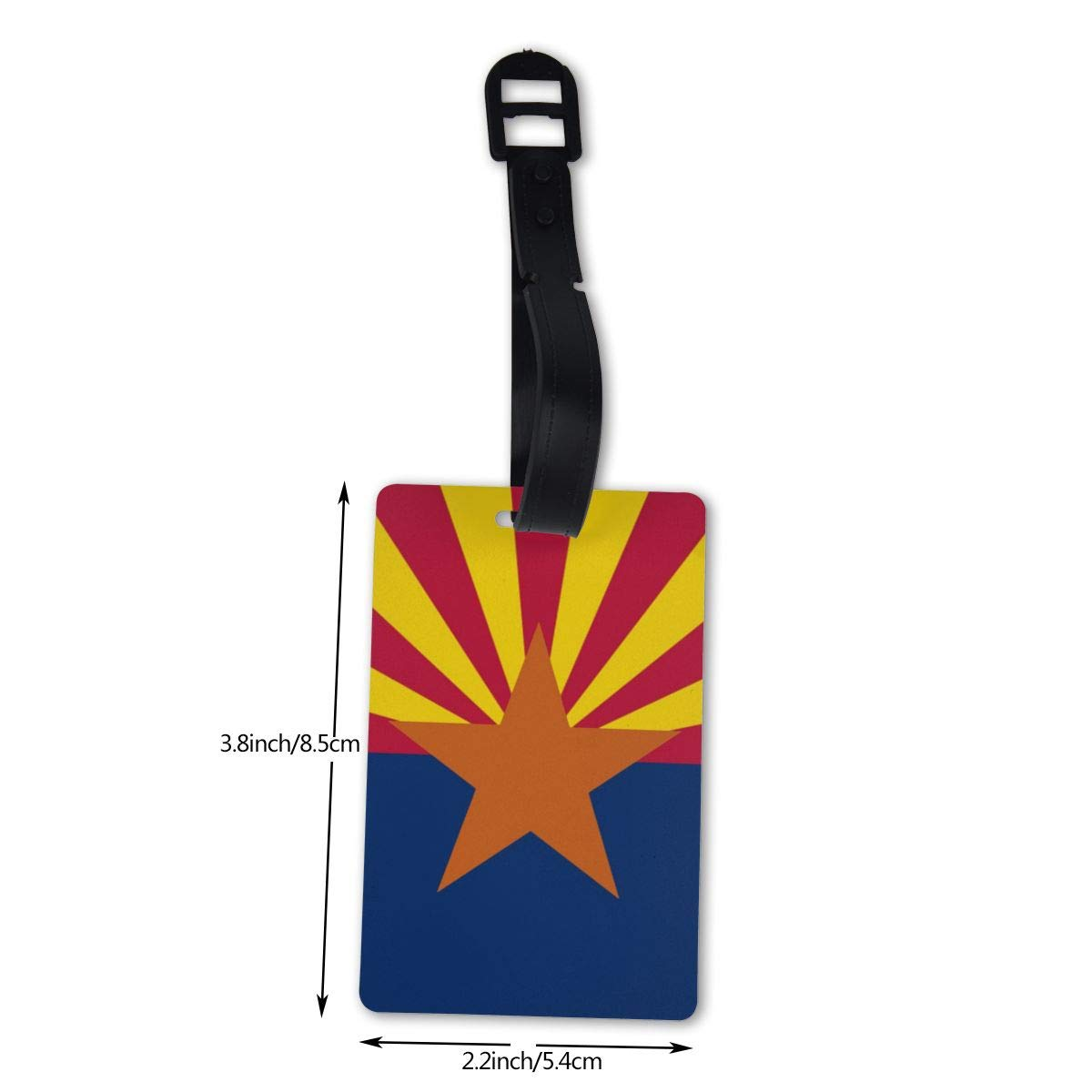 NB UUD Arizona State Flag Travel Luggage Tag Printed Employees Card Luggage Tag Holders Travel ID Identification Labels for Baggage Suitcases Bags