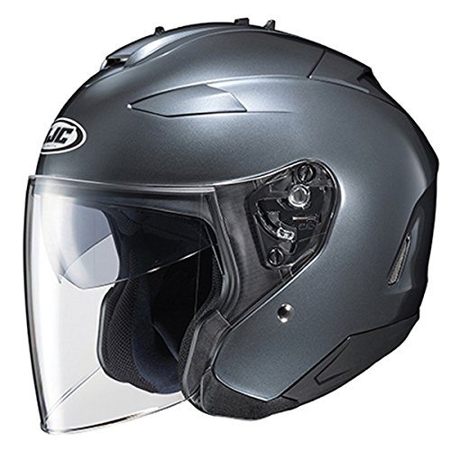 (HJC IS-33 II Open Face Helmet Dark Anthracite Silver XL)