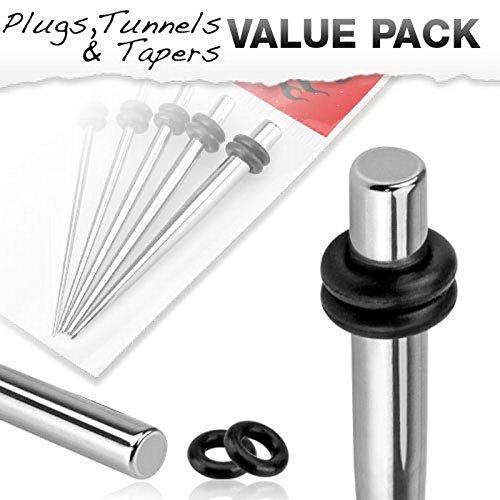 Pack de 5 Pièces de piercing Ecarteur avec O-Rings