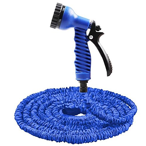 den Hose Can Adjust the Shape Of the Water Rotating Spear Head Spit Out Of 7 Different Waterline High Pressure Spray Nozzle (25FT, Blue) ()