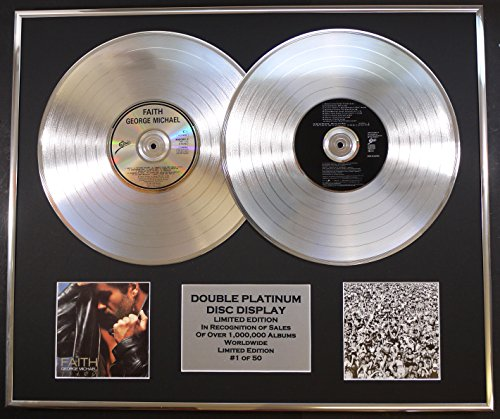 GEORGE MICHAEL/DOUBLE CD PLATINUM RECORD DISPLAY/LTD. EDITION/COA/FAITH & LISTEN WITHOUT PREJUDICE by EC
