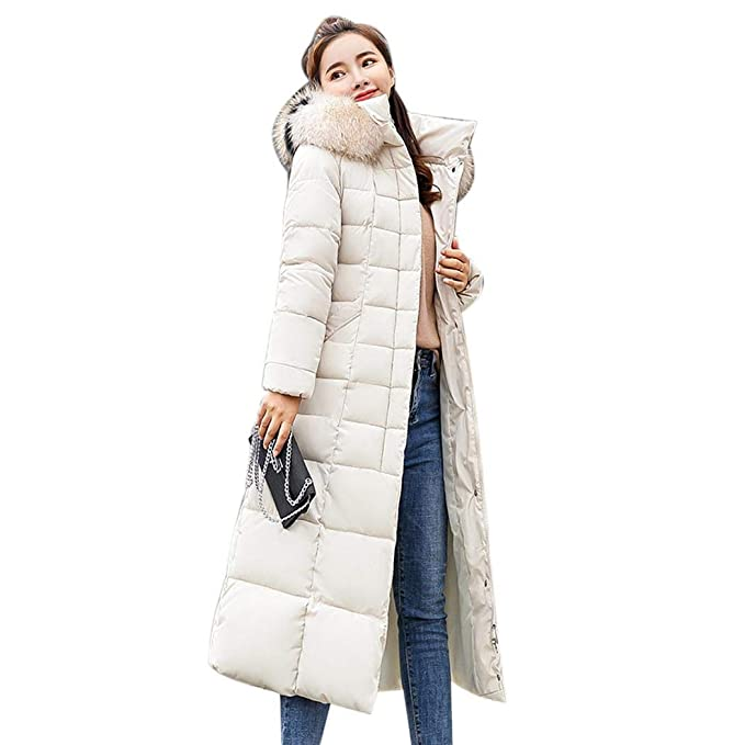 9ef4b06ada kisshes Women Ladies Long Padded Puffer Coat Winter Warm Cotton Quilted  Jacket Parka with Removable Faux Fur Hood: Amazon.co.uk: Clothing