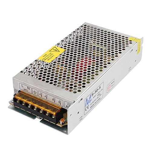 UXcell AC110V DC5V 10A 50W LED Strip Light Switching Powe...