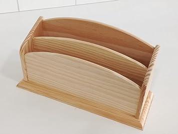 Tarjetero en madera. Pino macizo crudo. Para decorar. Decoración y manualidades.