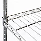 """Seville Classics Double-Rod Expandable Clothes Rack Closet Organizer System, 58"""" to 83"""" W x 14"""" D x 72"""", Chrome"""