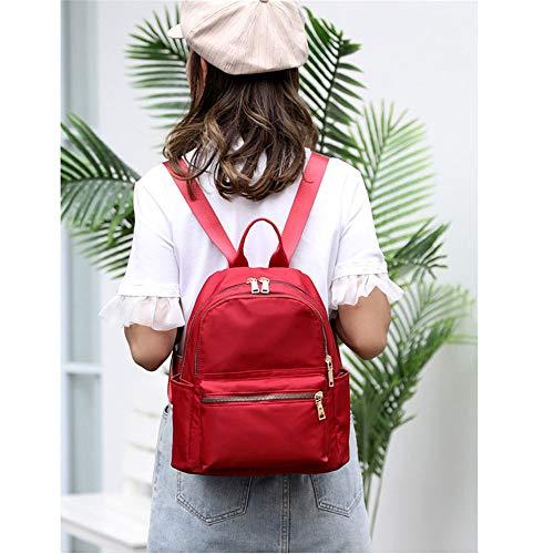 Oxford Chica Trabajo Para Tela De Viajes La Chico Moda Casual Niñas Dayback Estudiante Deportes Escolares Jxth Rojo Mochila Universidad Mujeres Bolsa Campus Impermeable ZqgwZ0Uf