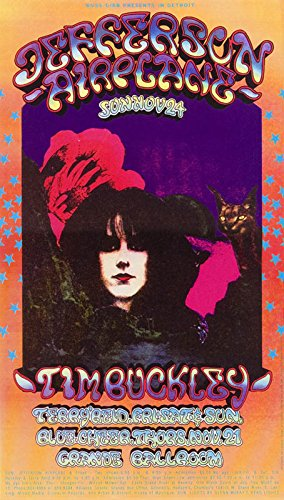 """Used, JEFFERSON AIRPLANE GRANDE BALLROOM POSTER 1968 19"""" for sale  Delivered anywhere in USA"""