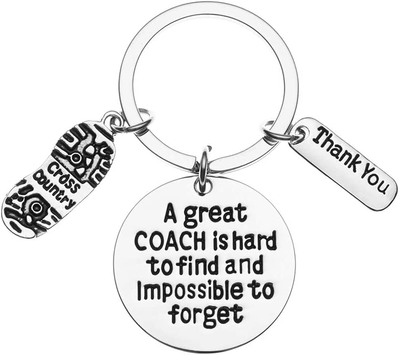 Great Coach is Hard to Find Coach Keychain Running Coach Gifts Infinity Collection Cross Country Coach Keychain