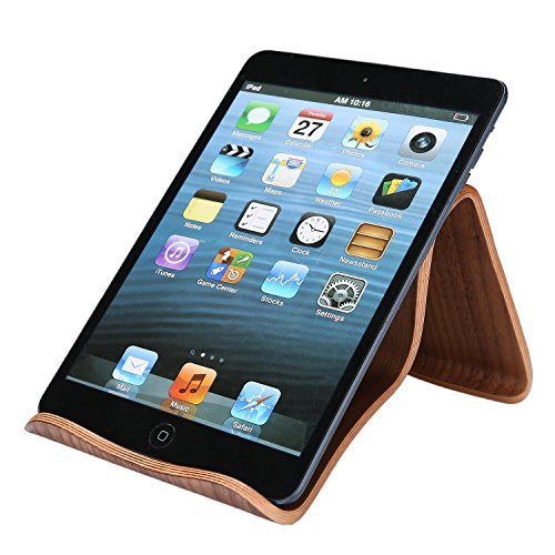 Vertical Stand Laptop Wood Stand for MacBook (Brown) - 6