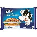 Purina-Felix-le-Ghiottonerie-Umido-Gatto-con-Manzo-e-Carote-e-con-Pollo-e-Pomodoro-40-Buste-da-100-g-Ciascuna-10-Confezioni-da-4-x-100-g