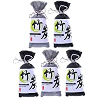 5 Pack Natural Air Purifying Bamboo Charcoal Bags Removes Odors Harmful Allergens Reusable and Non Toxic Air Freshener (5x100 g)