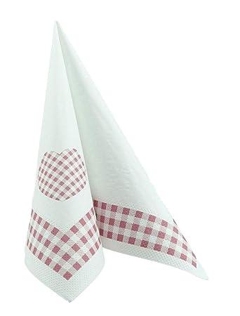 Design-Tissue 50 Servietten rosa Altrosa 40x40 cm stoff/ähnlich Airlaid CARR/É Altrosa