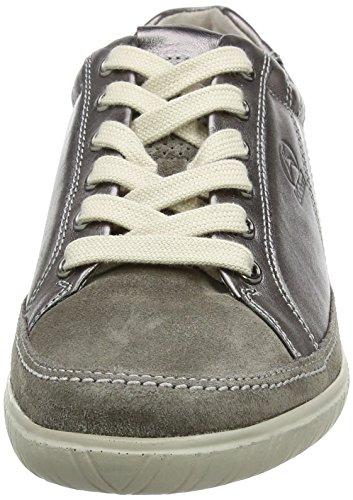 Shoes Femme Comfort Argento Gabor 98 Sneakers Peltro Gris Basses 6wannqFz