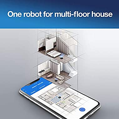 Ecovacs DEEBOT OZMO 950 Robotic Vacuum Cleaner 2-in-1 Vacuuming & Mopping with Smart Navi 3.0 Laser Technology Custom Cleaning Multi-Floor Mapping Virtual Wall Works on Carpets & Hard Floors 10