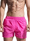 Neleus Men's Dry Fit Workout Shorts,722,Pink,US