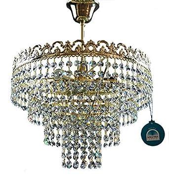 Araña de Cristal Lámpara de Techo Victoria Ø36cm 3 Focos ...
