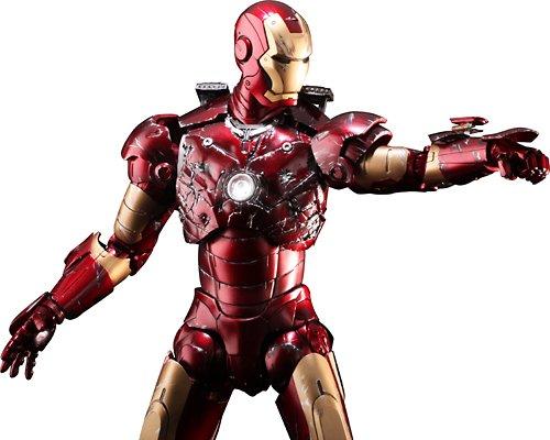Hot Toys Movie Masterpiece 12 Inch Poseable Model Kit Iron Man Mark III Battle Damaged