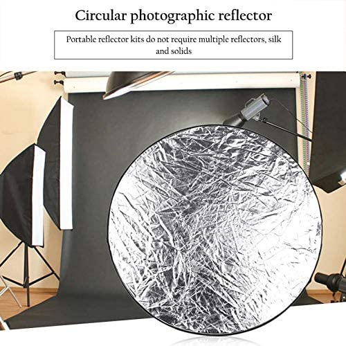 CremeBruluee Golden//Sliver Round 5 in 1 Photography Studio Light Mulit Collapsible Disc Reflector