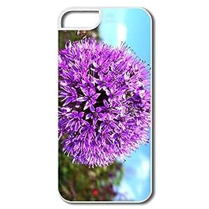 PTCY IPhone 5/5s Make Your Own Funny Purple Onion Flower wangjiang maoyi
