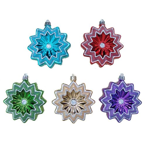 (Martha Stewart Living 6 Piece Poinsettia Shatter-resistant Ornaments)