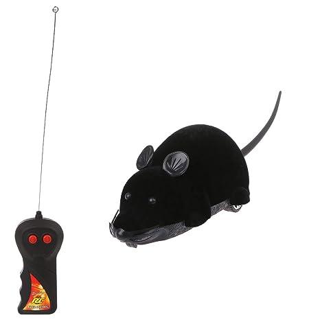 Yanhonin Juguete para Gato – eléctrico simulación ratón Mando a Distancia Prank Juguete – Gato Interactive