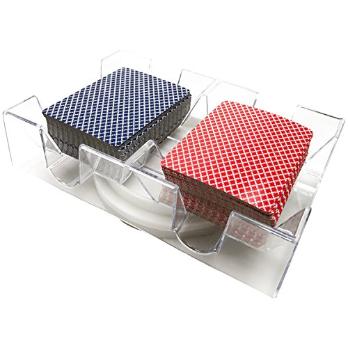 YH Poker 2 Deck Revolving Rotating Canasta Playing Card (Poker Card Holders)