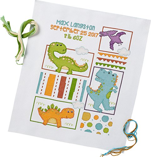 Bucilla 47724 Dino Baby Birth Record