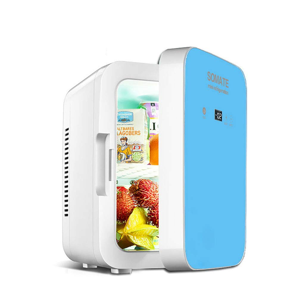 FJW 8L Mini Refrigerator with Digital Display Cool and Warm Electric Cool Box, Dual Voltage Car Refrigerator 12V DC/220-240V AC for Car/Home/Travel/Camping