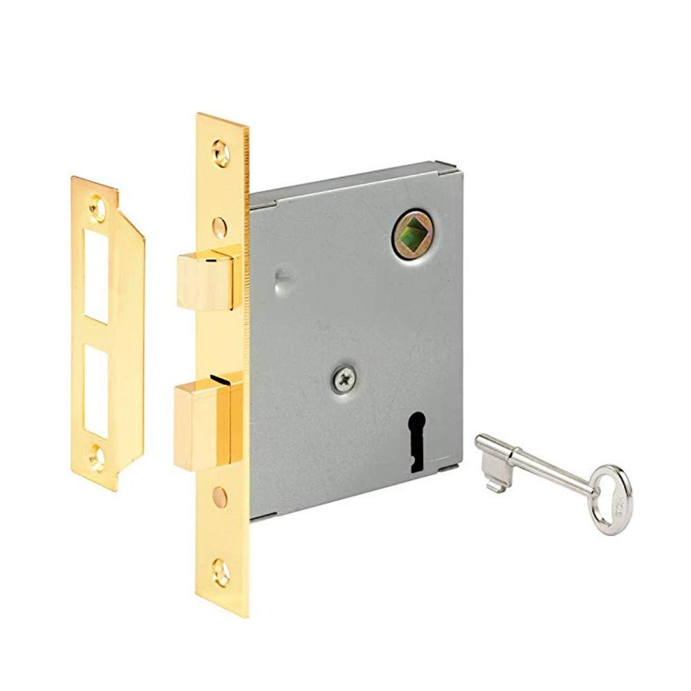 PRIME-LINE E 2294 Vintage Style Indoor Mortise Lock Assembly Kit - Cast Steel Construction, Antique Skeleton Key - Backset, 1/4'' Max Square Spindle - Reversible Latch Bolt (2 Pack)